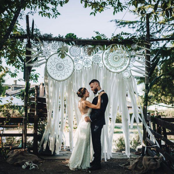 Boho wedding in the wood